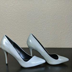 Gray Aldo pointed toe pumps